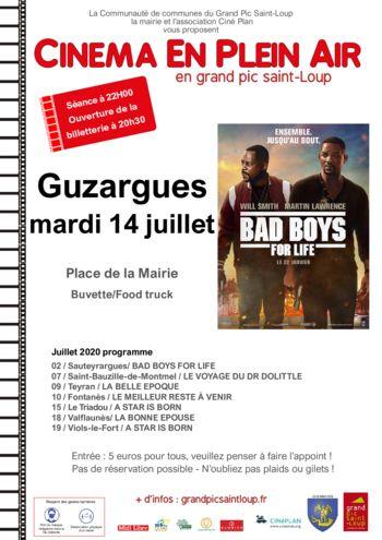 thumbnail of Affiche cinéma Plein air -Guzargues