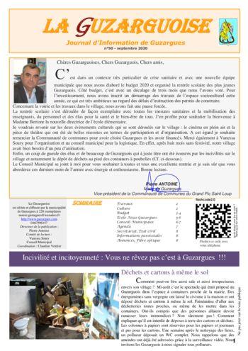 thumbnail of La Guzarguoise N°50, Septembre 2020