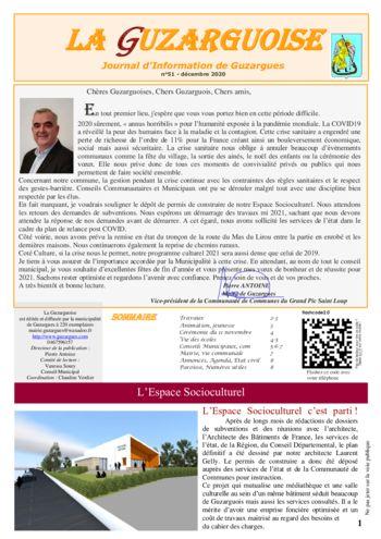 thumbnail of La Guzarguoise N°51, Décembre 2020