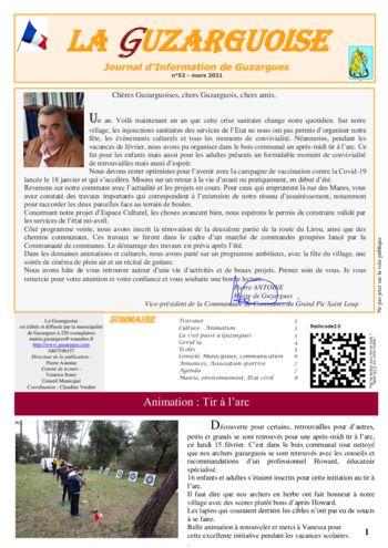 thumbnail of La Guzarguoise N°52, Mars 2021