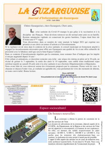thumbnail of La Guzarguoise N°53, Juin 2021