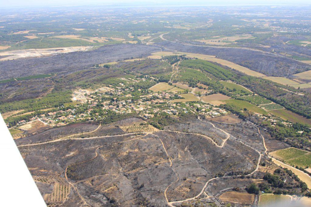 Guzargues : Incendie de du 30 et 31 août 2010